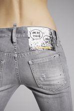 DSQUARED2 Grey Denim Jennifer Jeans 5 pockets Woman