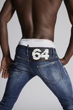 DSQUARED2 Splashed Cuff Regular Clement Jeans Джинсы с 5-ю карманами Для Мужчин
