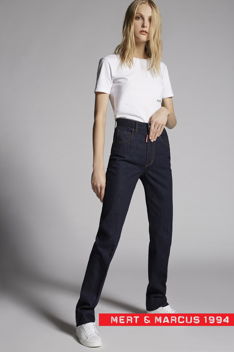 DSQUARED2 Mert & Marcus 1994 x Dsquared2 Dark Jeans 5 pockets Woman