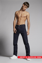 DSQUARED2 Mert & Marcus 1994 x Dsquared2 Dark High Waist Straight Leg Jeans 5 pockets Man