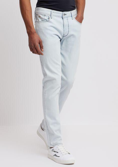 修身版型 J06 12 盎司右斜纹织舒适牛仔裤