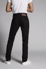 DSQUARED2 Mert & Marcus 1994 x Dsquared2 High Waist Garment Dyed Straight Leg Jeans 5 pockets Man