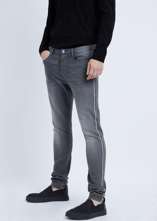 2ad07873b9 Jeans coupe extra slim en denim de coton stretch avec lisière externe