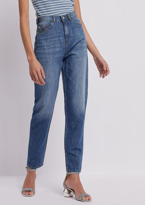 Straight-fit J29, very high denim jeans