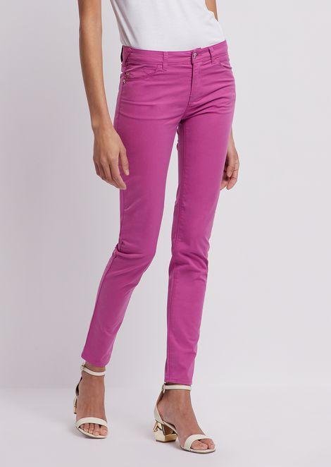 Супероблегающие джинсы J28 из габардина