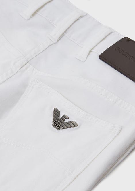 Five-pocket trousers in cotton gabardine
