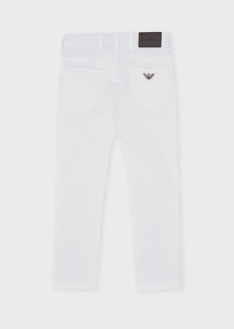 Five-pocket trousers in cotton gabardine