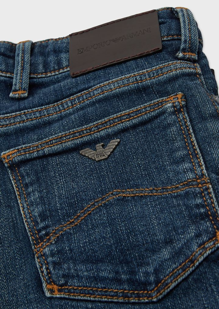 a2858d32b3 Five-pocket jeans in stone-washed denim