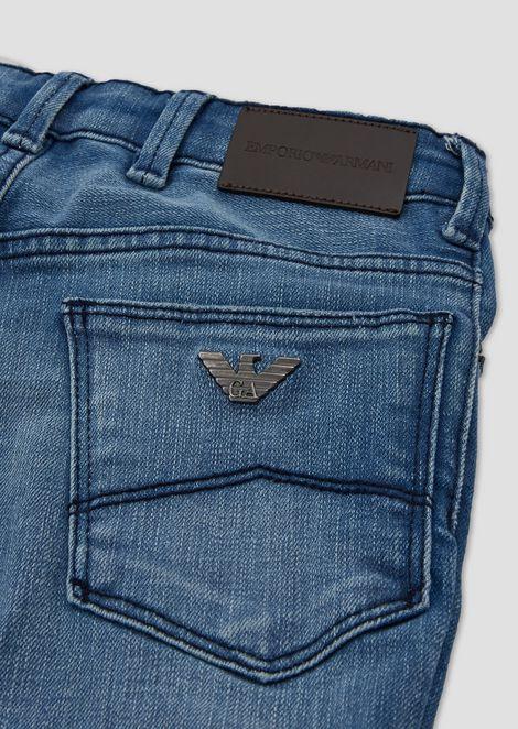 Five-pocket jeans in stone-washed denim