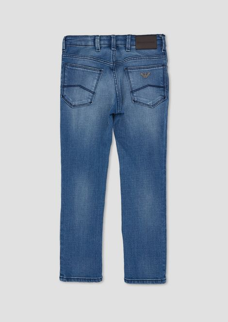 Five-pocket jeans in stone-washed denim