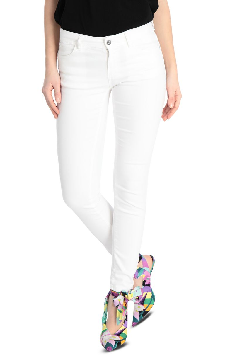 JUST CAVALLI Slim-fit snake-detail jeans Jeans Woman f