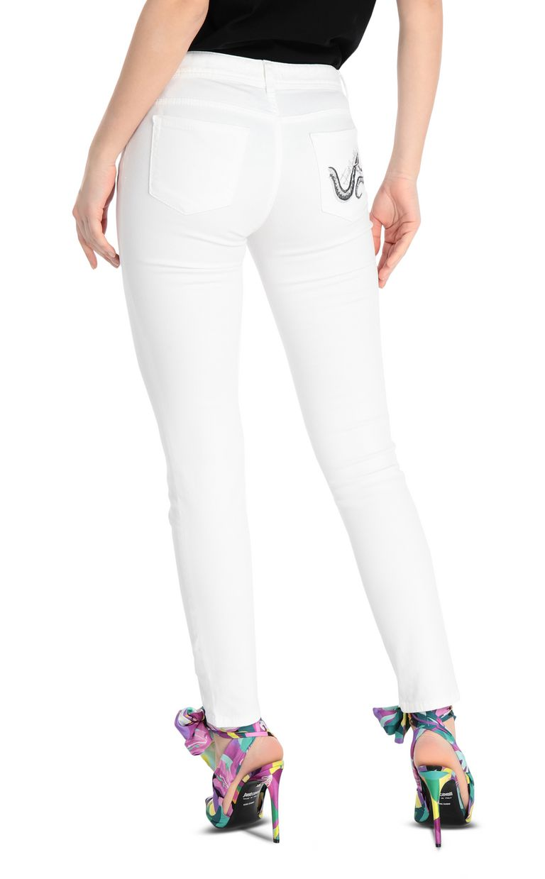 JUST CAVALLI Slim-fit snake-detail jeans Jeans Woman r