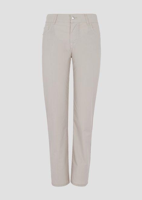 Slim fit J36 jeans in garment-dyed pelleovo fabric