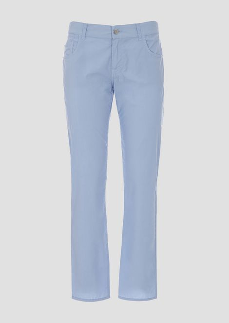 Slim fit J36 jeans in garment-dyed pelleovo fabric