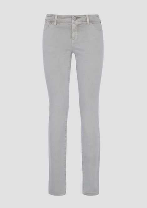 Super-skinny J23 jeans in vintage-effect cotton and linen drill