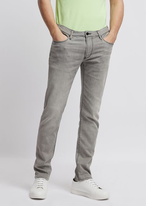 EMPORIO ARMANI Узкие джинсы Для Мужчин f