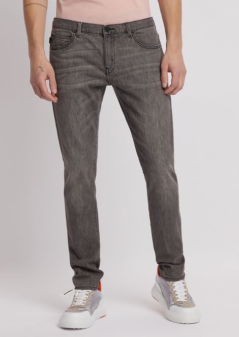 Jeans J10 coupe extra slim en denim de coton stretch