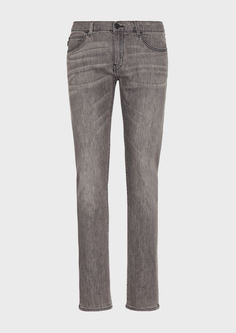 Extra slim-fit J10 stretch cotton denim jeans