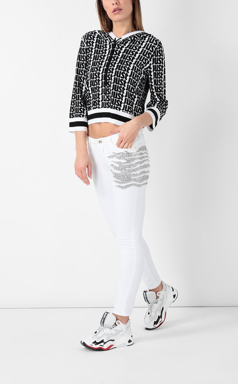 JUST CAVALLI Slim-fit jeans with studs Jeans Woman e