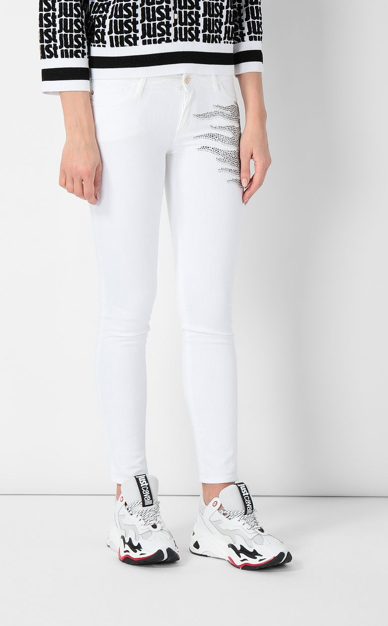 JUST CAVALLI Slim-fit jeans with studs Jeans Woman r