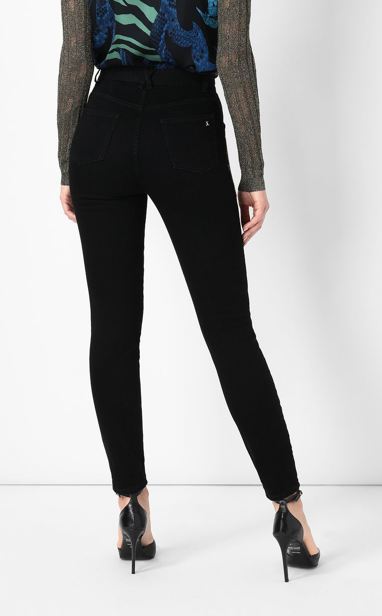 JUST CAVALLI Slim-fit jeans with chains Jeans Woman a