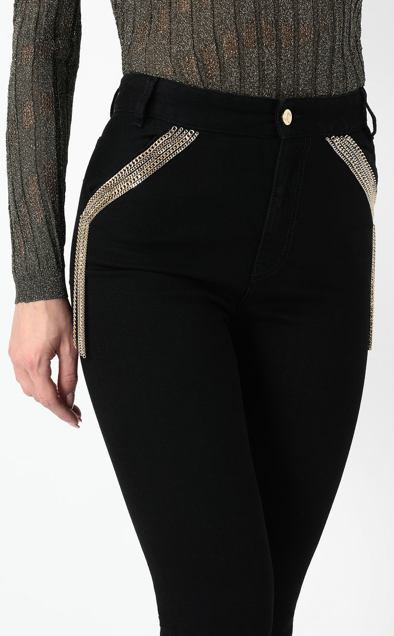 JUST CAVALLI Slim-fit jeans with chains Jeans Woman e