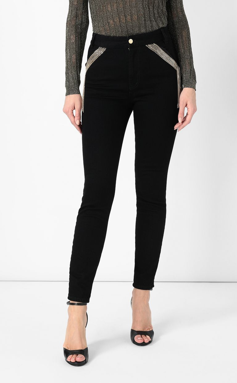 JUST CAVALLI Slim-fit jeans with chains Jeans Woman r