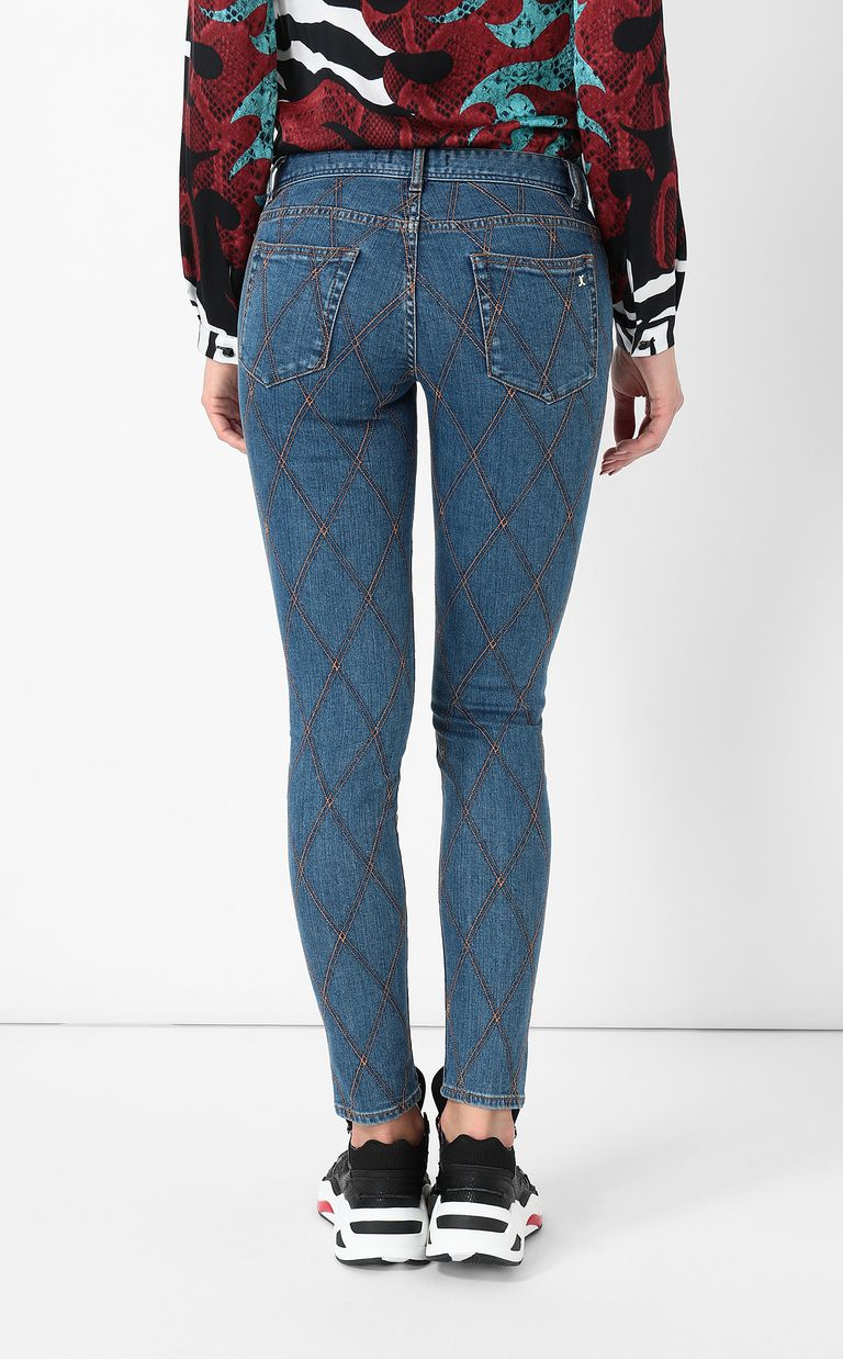 JUST CAVALLI Quilted slim-fit jeans Jeans Woman a
