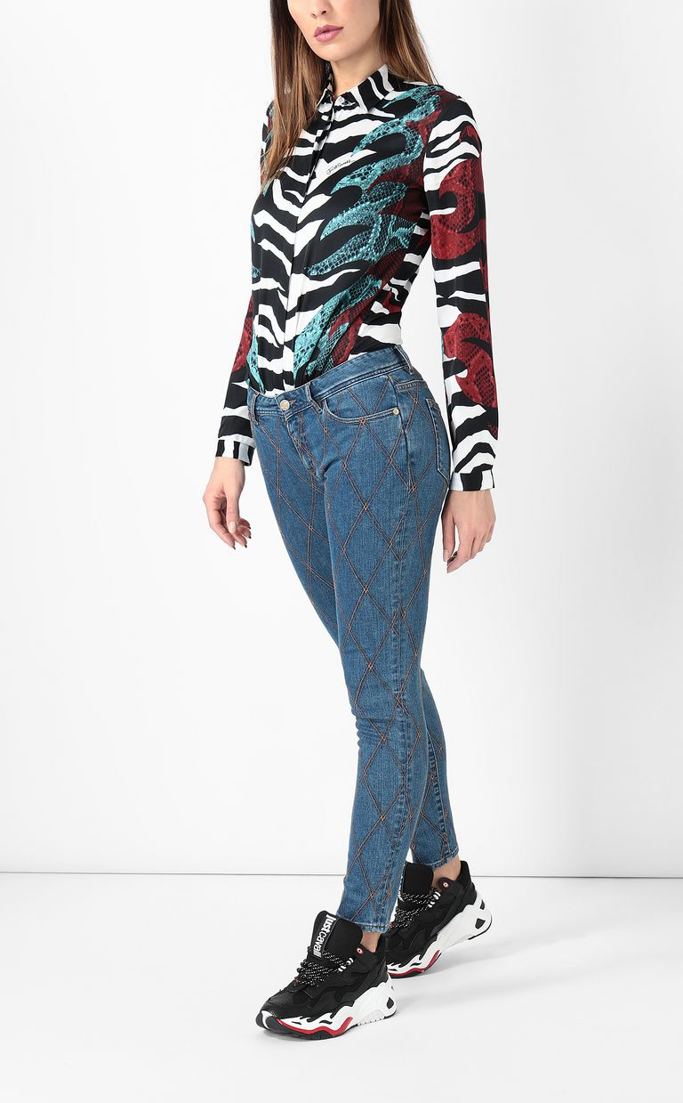 JUST CAVALLI Quilted slim-fit jeans Jeans Woman d