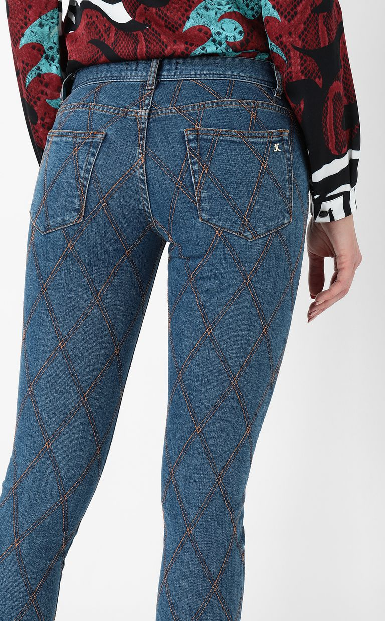 JUST CAVALLI Quilted slim-fit jeans Jeans Woman e