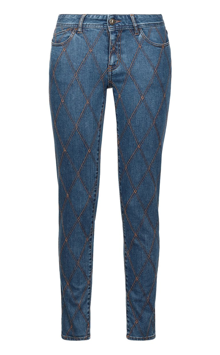 JUST CAVALLI Quilted slim-fit jeans Jeans Woman f