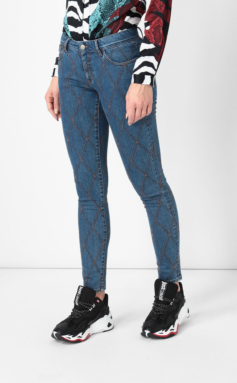 JUST CAVALLI Quilted slim-fit jeans Jeans Woman r
