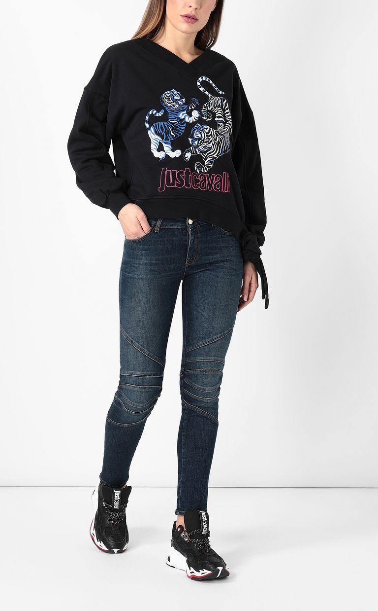 JUST CAVALLI Biker-style jeans Jeans Woman d