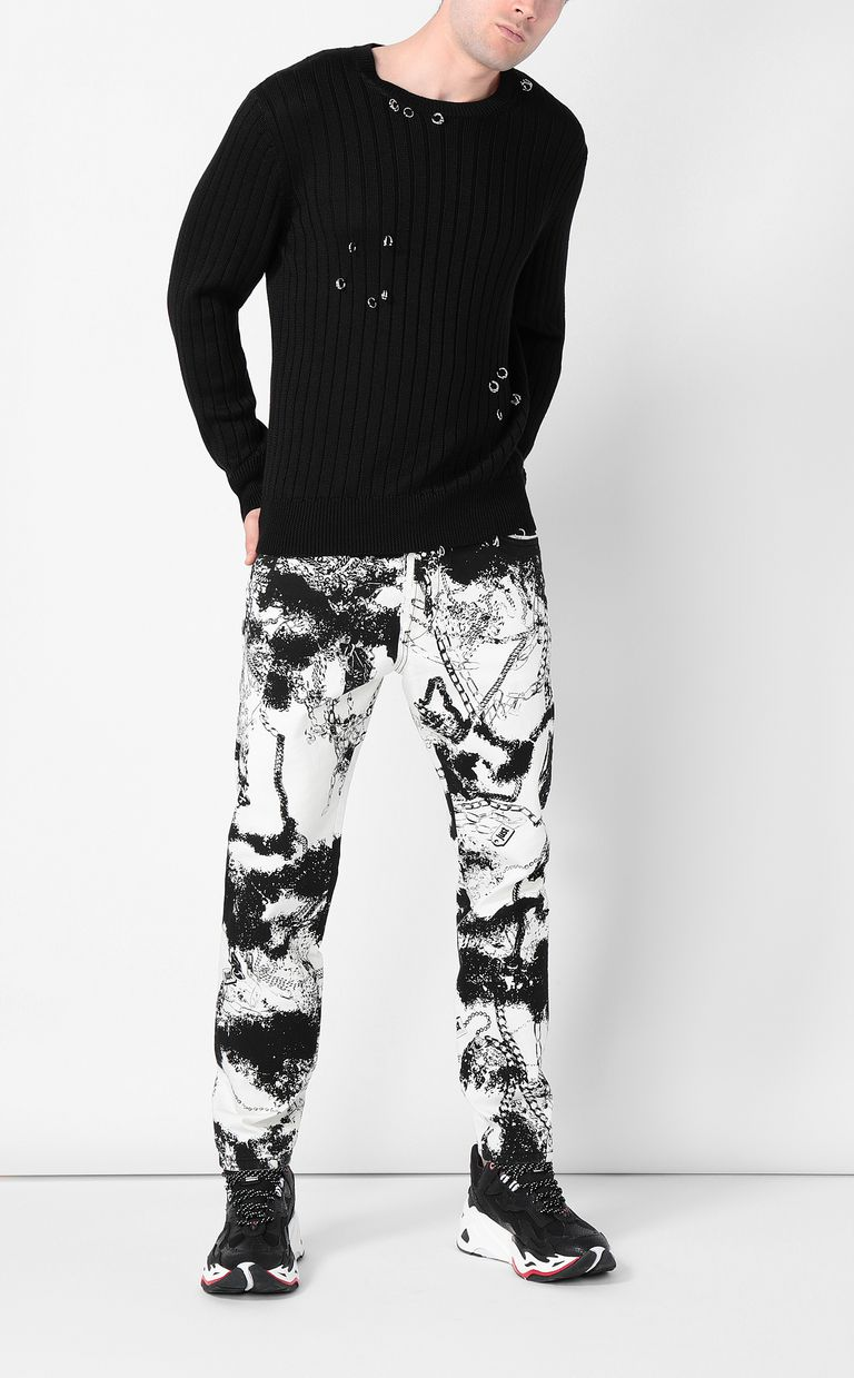 JUST CAVALLI Boy-fit jeans with chains Jeans Man d