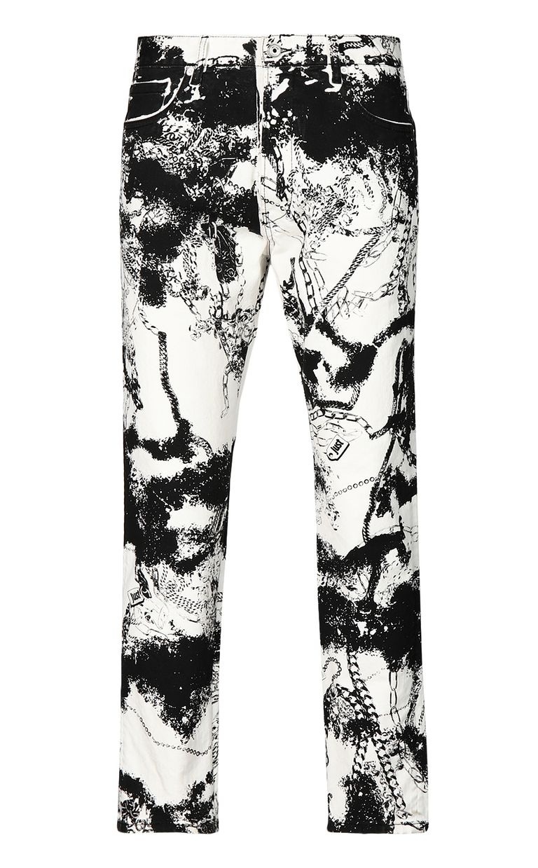 JUST CAVALLI Boy-fit jeans with chains Jeans Man f