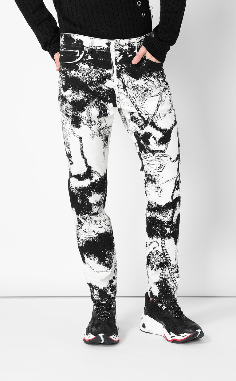 JUST CAVALLI Boy-fit jeans with chains Jeans Man r