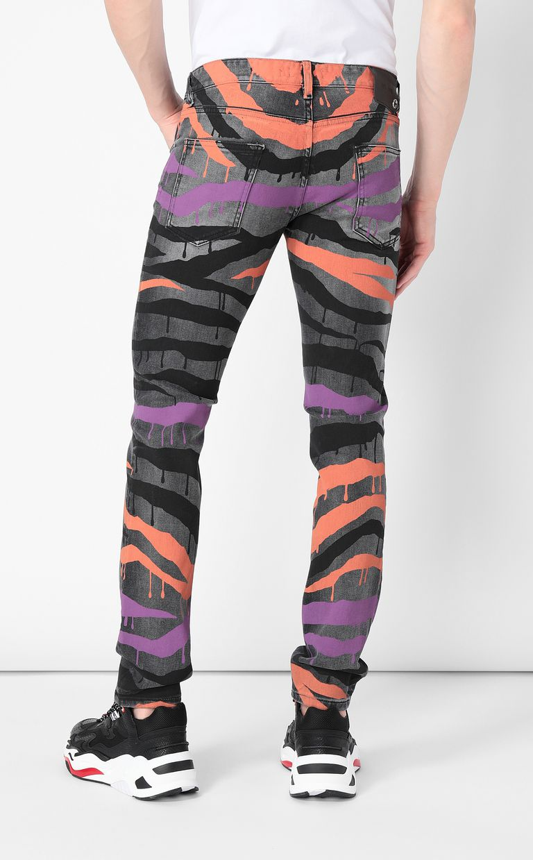 "JUST CAVALLI ""Dripping Zebra"" Just-Fit jeans Jeans Man a"