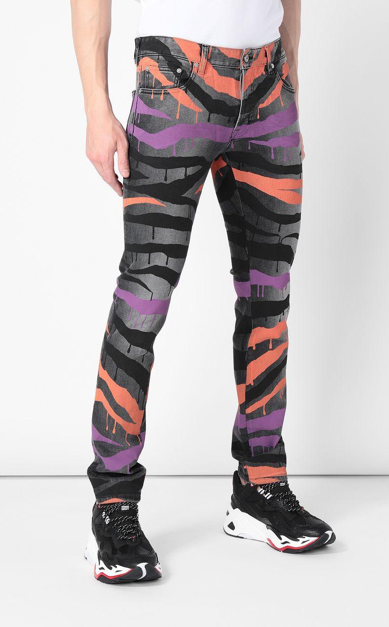 """JUST CAVALLI """"Dripping Zebra"""" Just-Fit jeans Jeans Man r"""