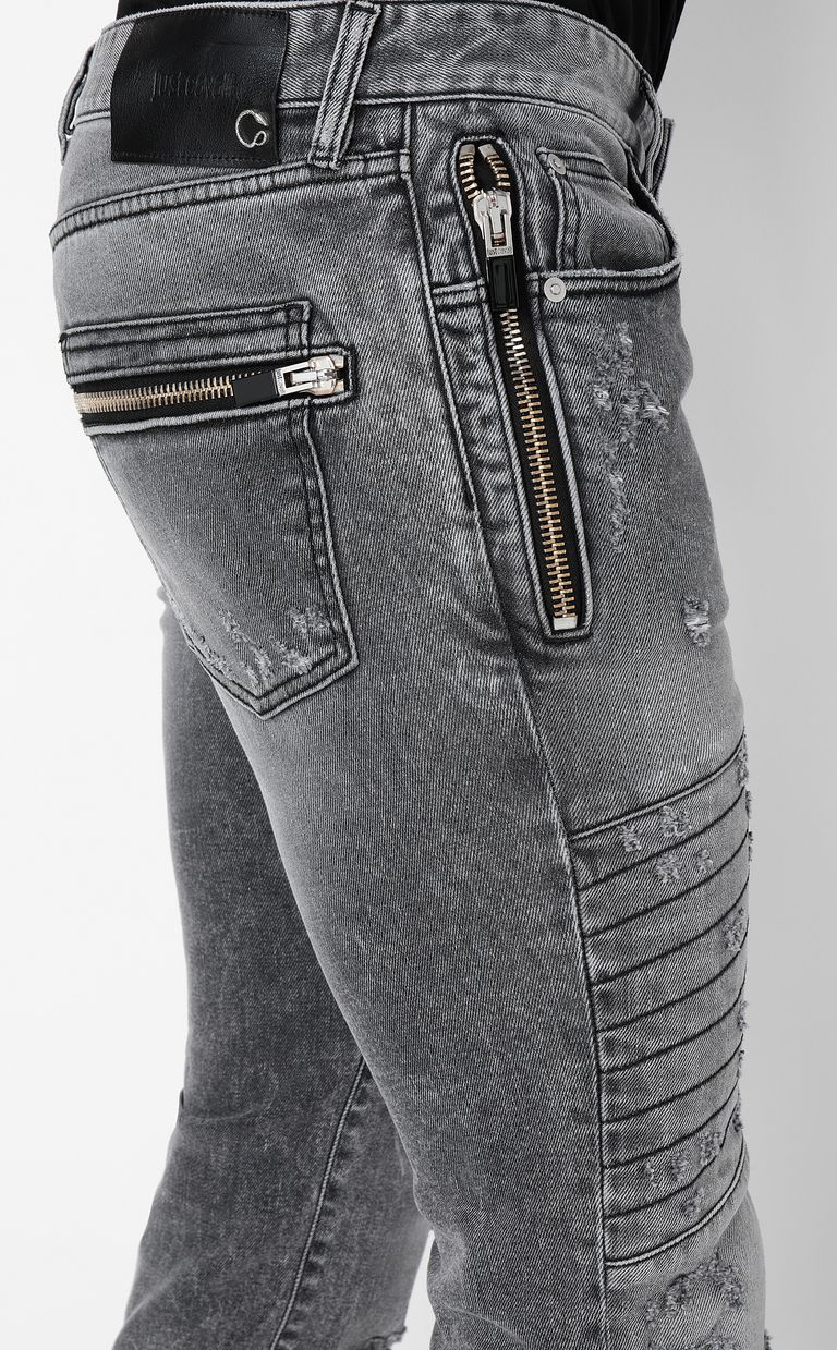 JUST CAVALLI Biker-style jeans Jeans Man e