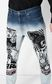 JUST CAVALLI Faded Gabber-fit jeans with prints Jeans Man e