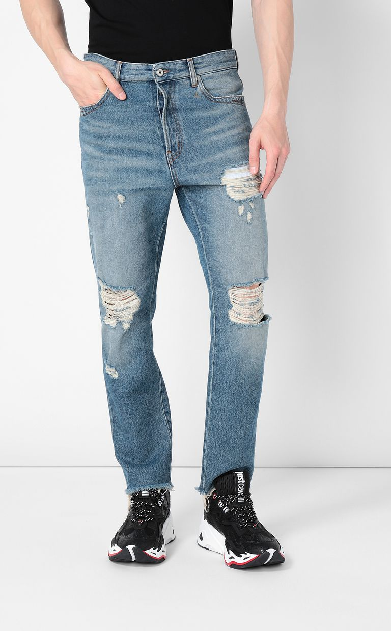 JUST CAVALLI Gabber-fit jeans with chain detail Jeans Man r