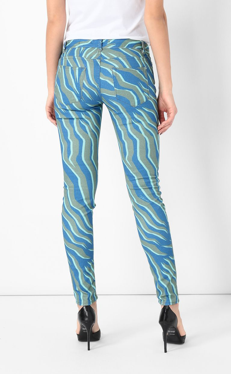"JUST CAVALLI ""Glowing Zebra"" slim-fit jeans Jeans Woman a"