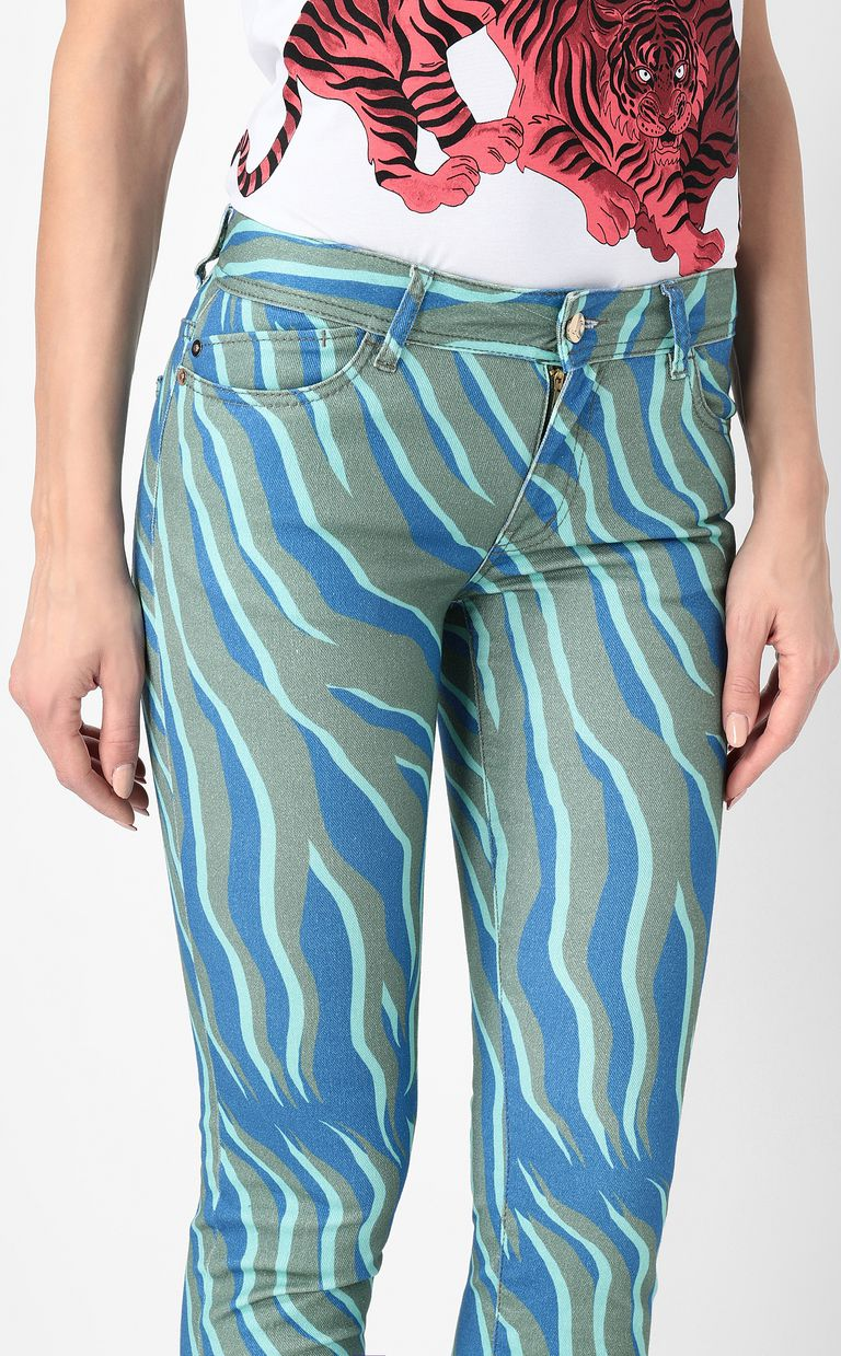 "JUST CAVALLI ""Glowing Zebra"" slim-fit jeans Jeans Woman e"