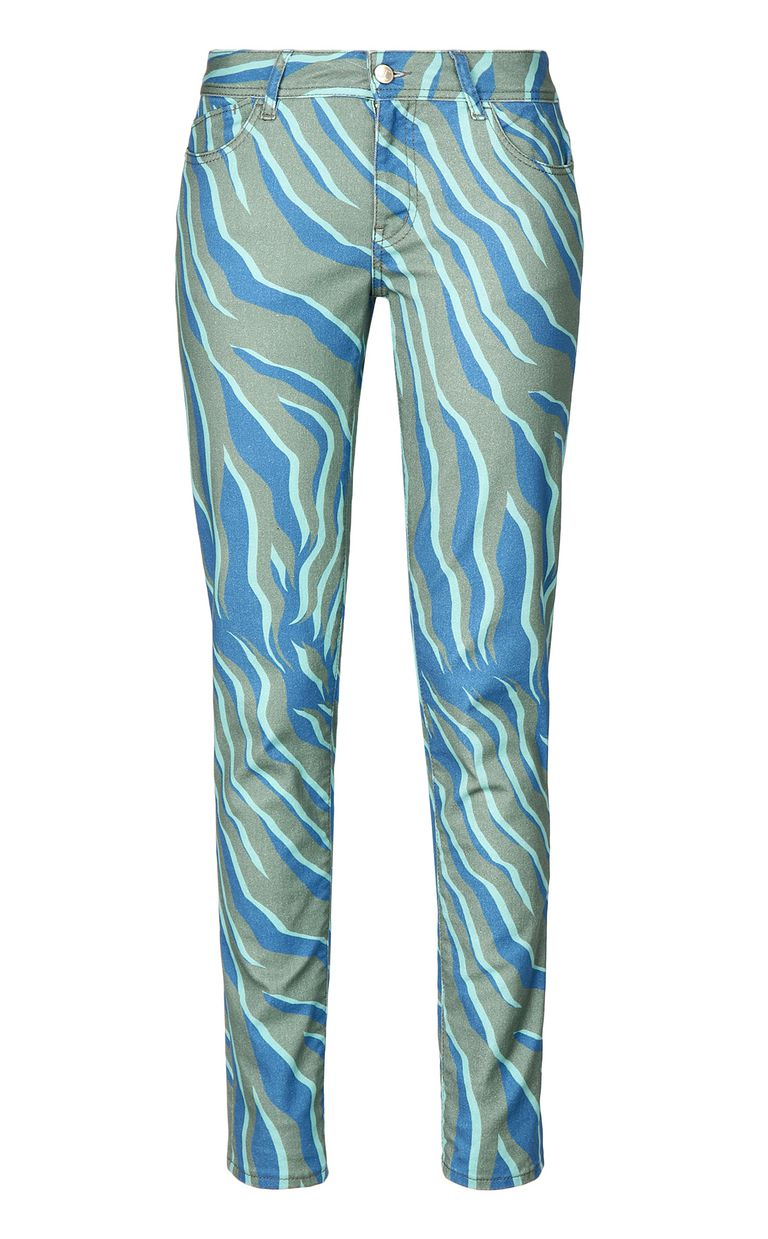 "JUST CAVALLI ""Glowing Zebra"" slim-fit jeans Jeans Woman f"