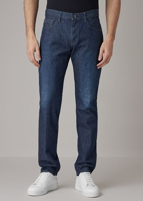 Jeans slim fit in denim selvedge cotton