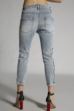 DSQUARED2 Blue Acid Cool Girl Cropped Jeans 5 pockets Woman