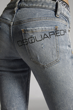 DSQUARED2 Blue Acid Jennifer Jeans 5 pockets Woman