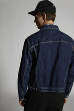 DSQUARED2 Bleached Seams Denim Jacket 牛仔外衣 男士