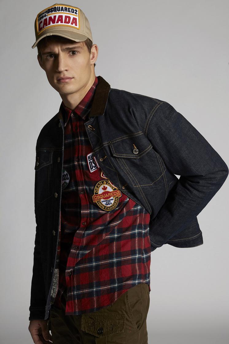 DSQUARED2 Medium Over Denim Jacket With Corduroy Collar 牛仔外衣 男士