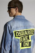 DSQUARED2 Rave On Over Denim Jacket Denim outerwear Man